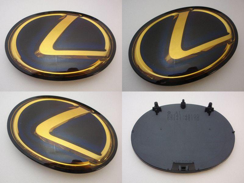 ◇レクサス LS600hL(前期・中期)ゴールドエンブレム4点セット