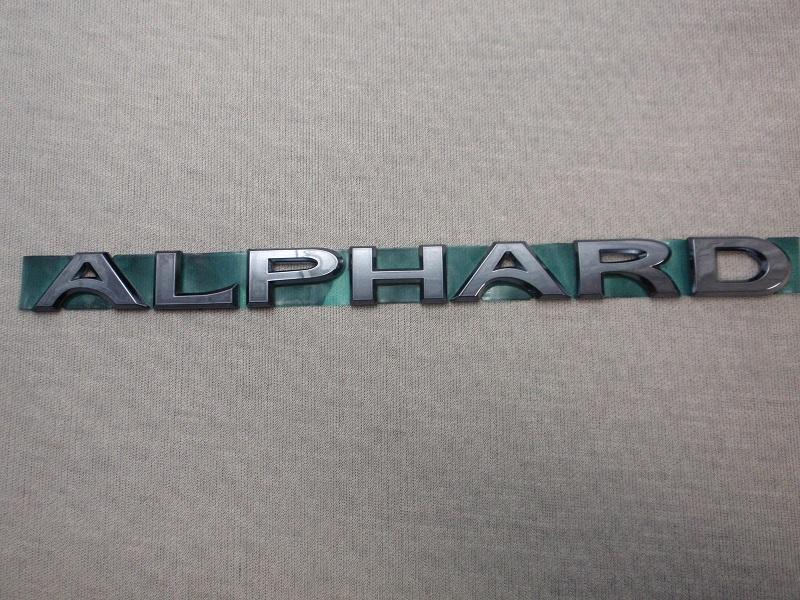◇トヨタ30系ALPHARDプラチナブラックエンブレム!
